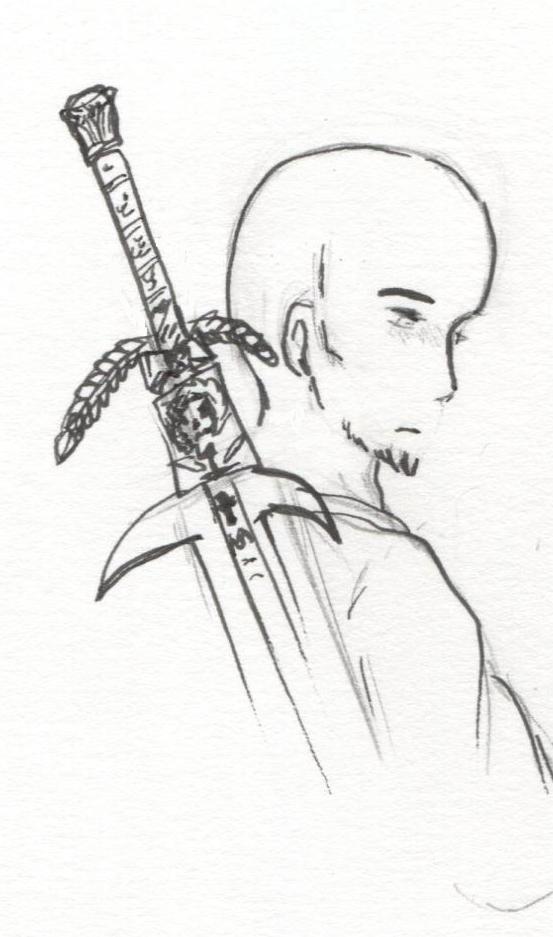 Kher, salendo la scala, una ciocca di capelli in mano