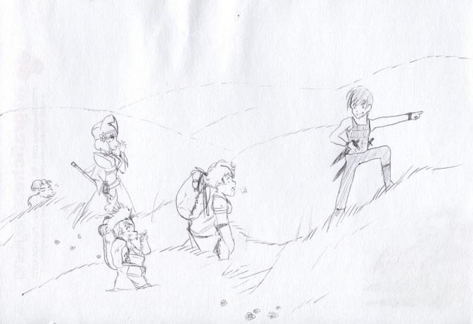 scampagnata su per le colline