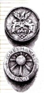 """Ecco, le mie monete d'oro sono come queste ma non c'è la scritta """"Greyhawk"""".Ma che razza di posto si fa chiamare FalcoGrigio??? Mah..."""