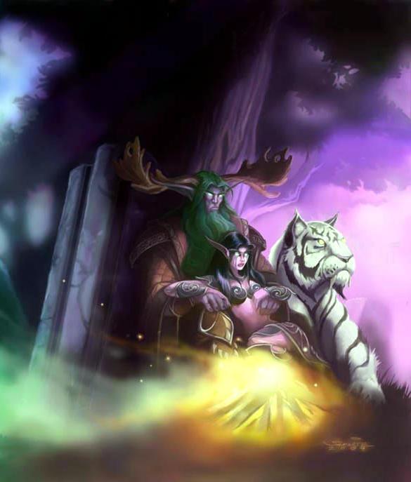 (da sinistra) Malfurion, Tyrande, Ash'alah