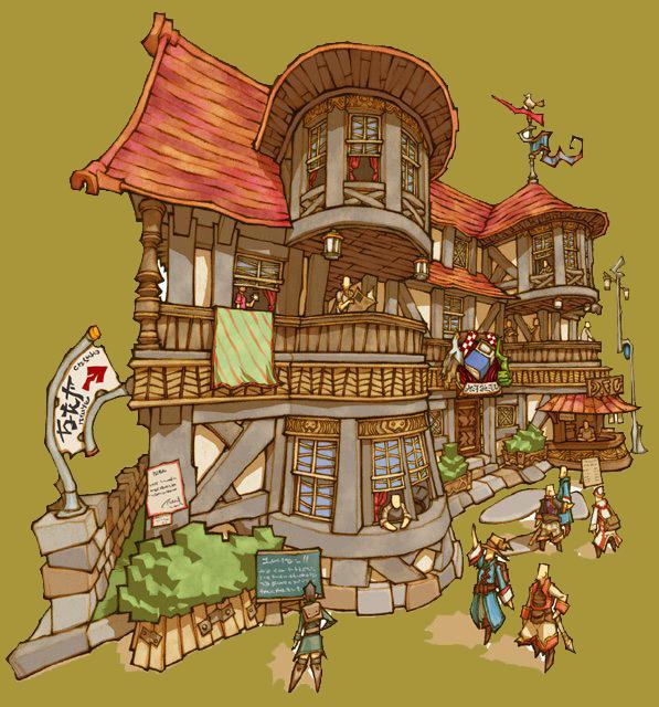 Final Fantasy è sicuramente un ottimo esempio di originali e coloratissime strutture! (Final Fantasy)
