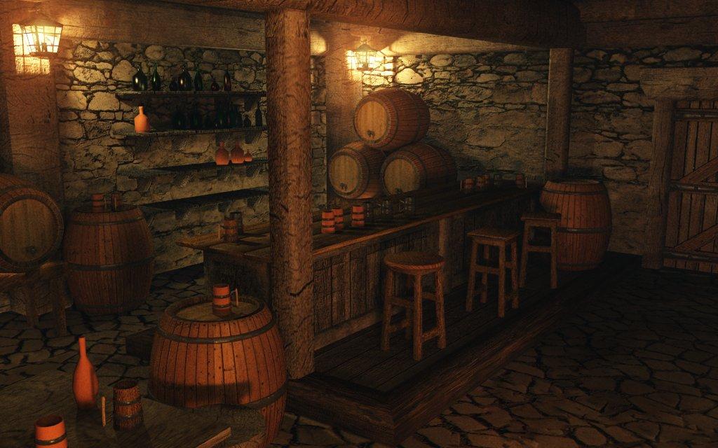 Medieval Bar Room Wall Design