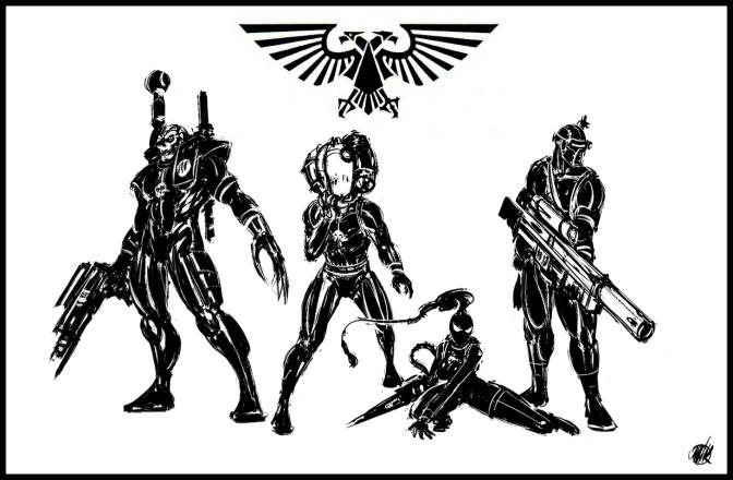 (Da sinistra verso destra) Eversor, Culexus, Callidus, Vindicare