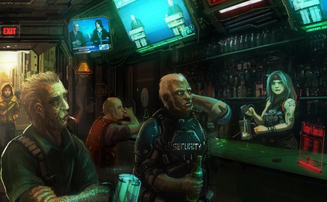 Ma non è che abbandonando il Fantasy il Bar di Raynor sia l'unico, eh! Esistono luoghi molto più pericolosi... Sul filo del rasoio. (Cyberpunk 2020)