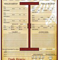 Schede personaggio GdrTales - Warhammer 40k: Dark Heresy V 2.0