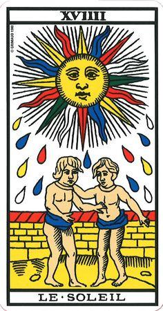 tarot de marseille le soleil il sole