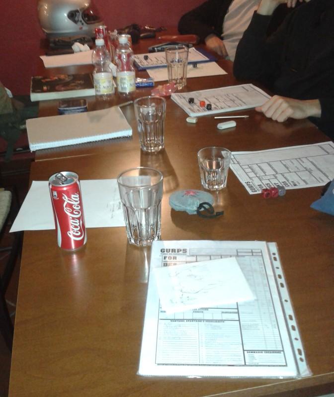 gurps sessione terra di mezzo tavolo da gioco