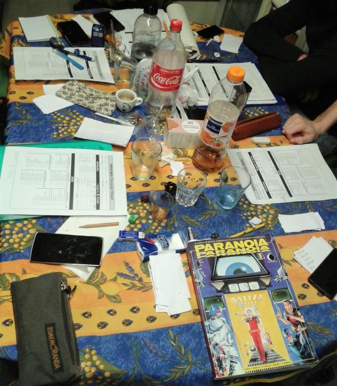 paranoia tavolo da gioco